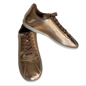 Cupid Rose Gold Shiny Metallic Sneakers